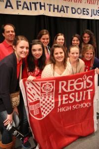 Regis Jesuit High School at the Ignatian Family Teach-In for Justice 2012